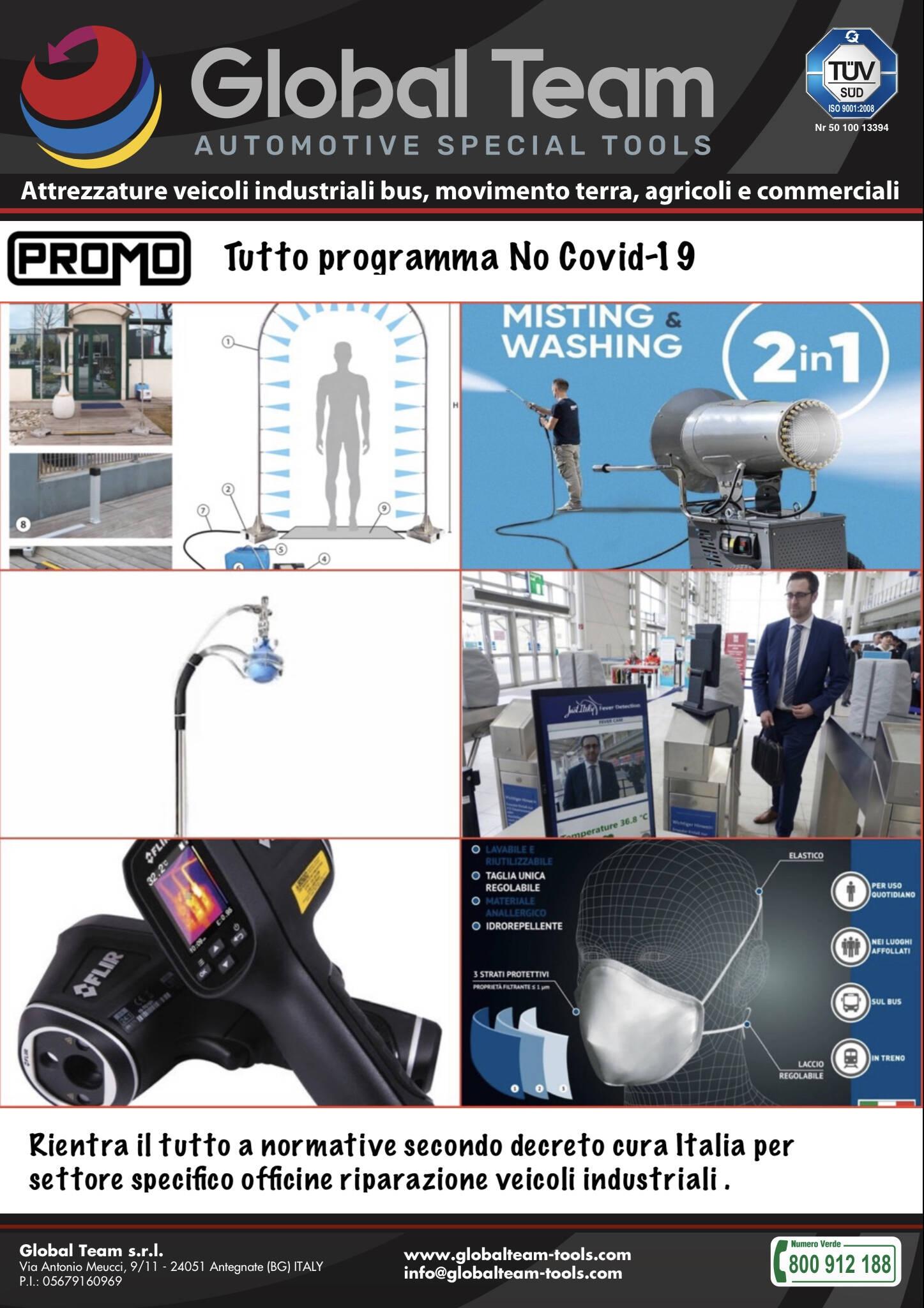 Programma sanificatori, ozonizzatori, barriere protettive ed individuati e prodotti chimici a presidio medico chirurgico no Covit-19