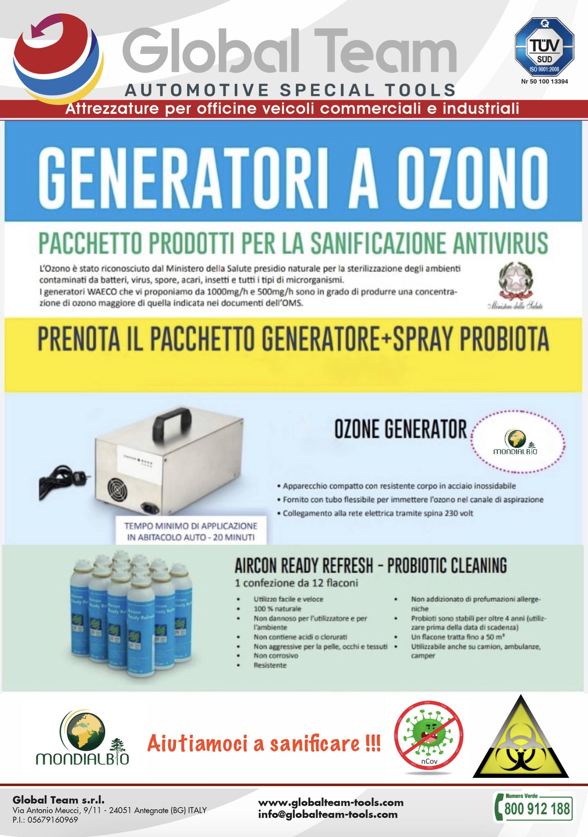 Promo causa Covit-19 sanificatore ad generazione e Ozono - Attenzione questo modello speciale per automotive dedicato