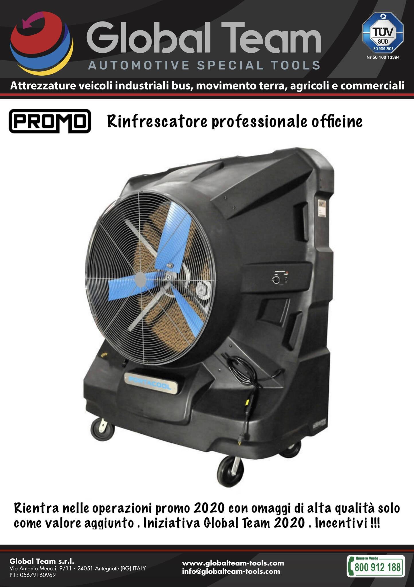 Promuoviamo ventilatore rinfrescante con sistema esclusivo Portacool con nostra modalità promo ad incentivo no extra prezzo