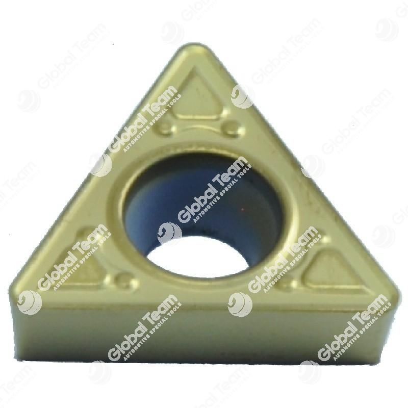 Inserto singolo triangolare grande superficie piana (rivestito giallo)