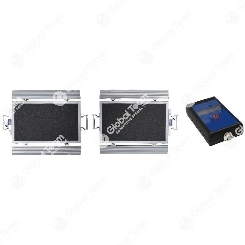 Coppia di bilance mobili supersottili con visualizzatore wireless - 10+10Ton per la pesatura degli assi di qualsiasi veicolo