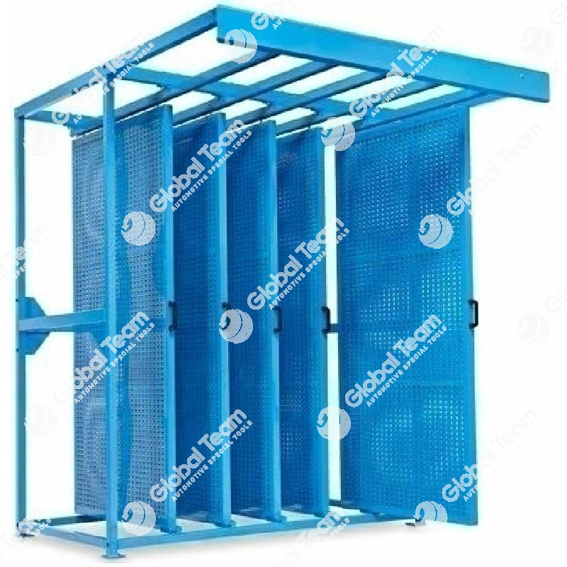 N.5 pannelli bifacciali scorrevoli porta utensili
