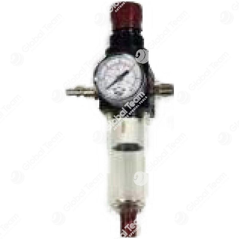 Regolatore di pressione con manometro - attachi 1/4'' - consigliato per aeropulsometri