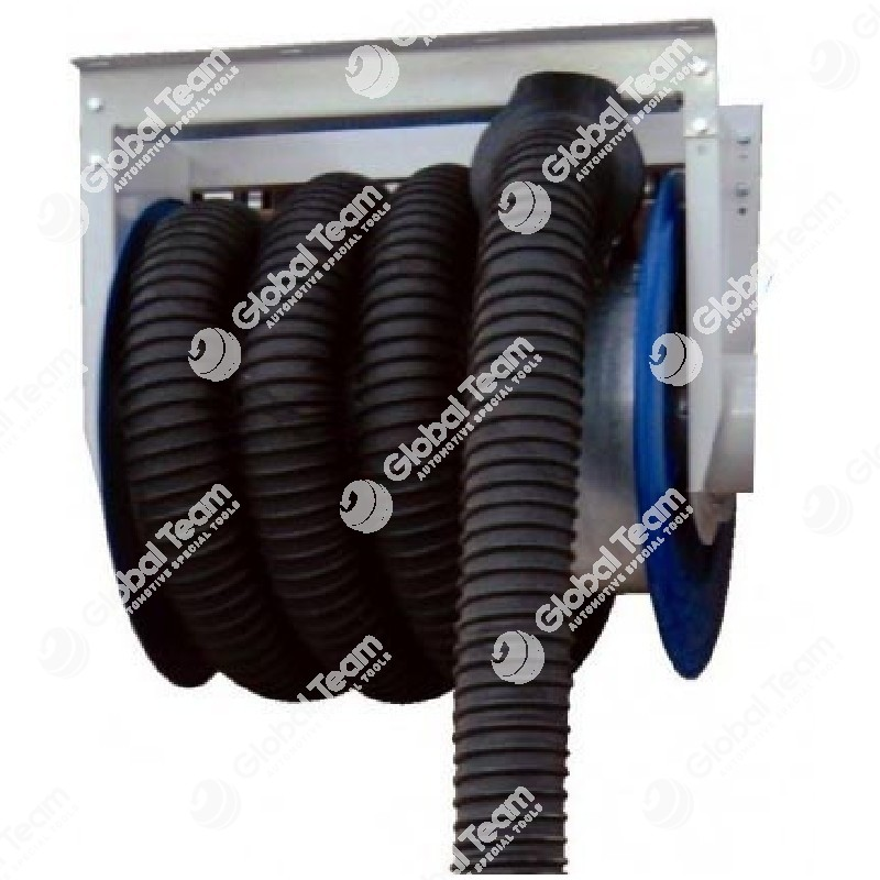 Arrotolatore completo di tubo diam. 125 mm lung. 13mt e bocchettone per veicoli industriali (senza elettroaspiratore)