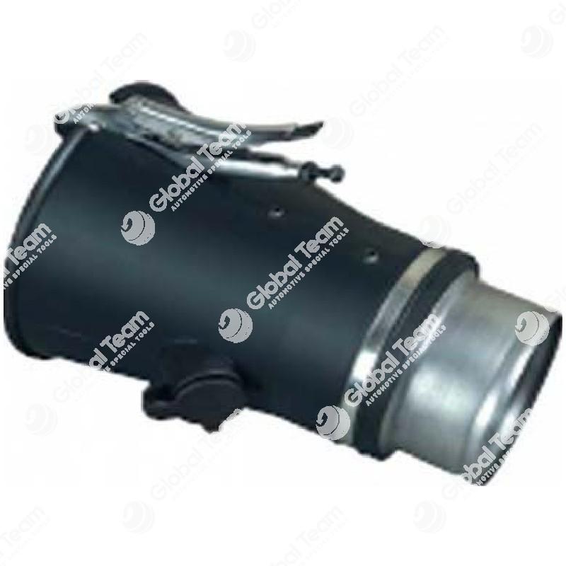 Bocchetta conica in gomma con ingresso sonda entrata diam.125 uscita 200 mm per veicoli industriali