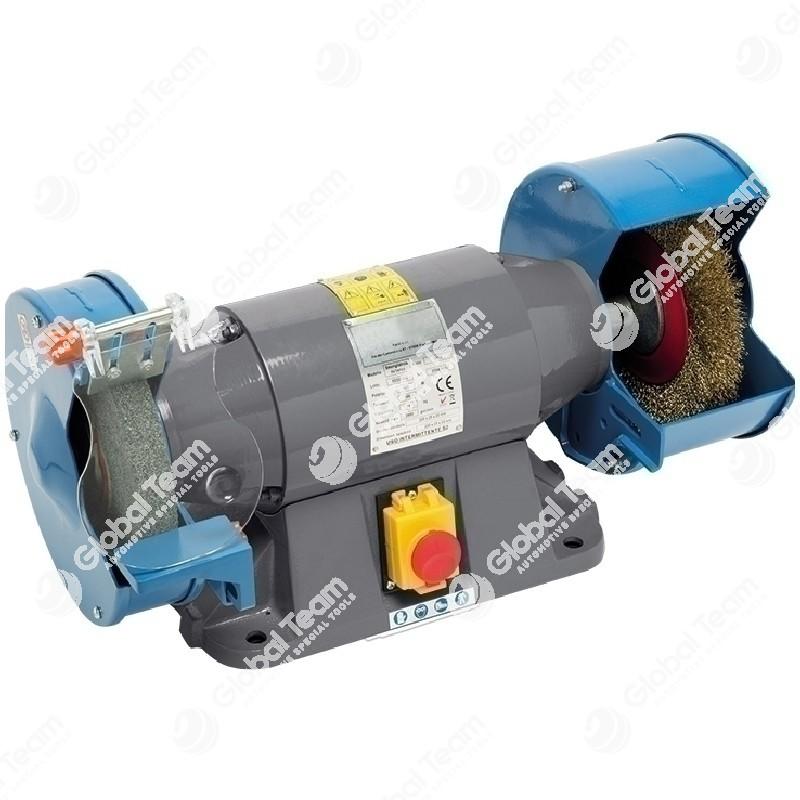Smerigliatrice combinata professionale (mola + spazzola) diam. 200 mm - 400V