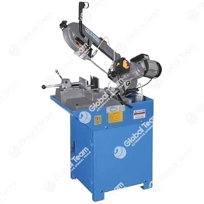 Segatrice a nastro per metalli con sistema di refrigerazione, morsa rapida, basamento con vano portautensili 220V