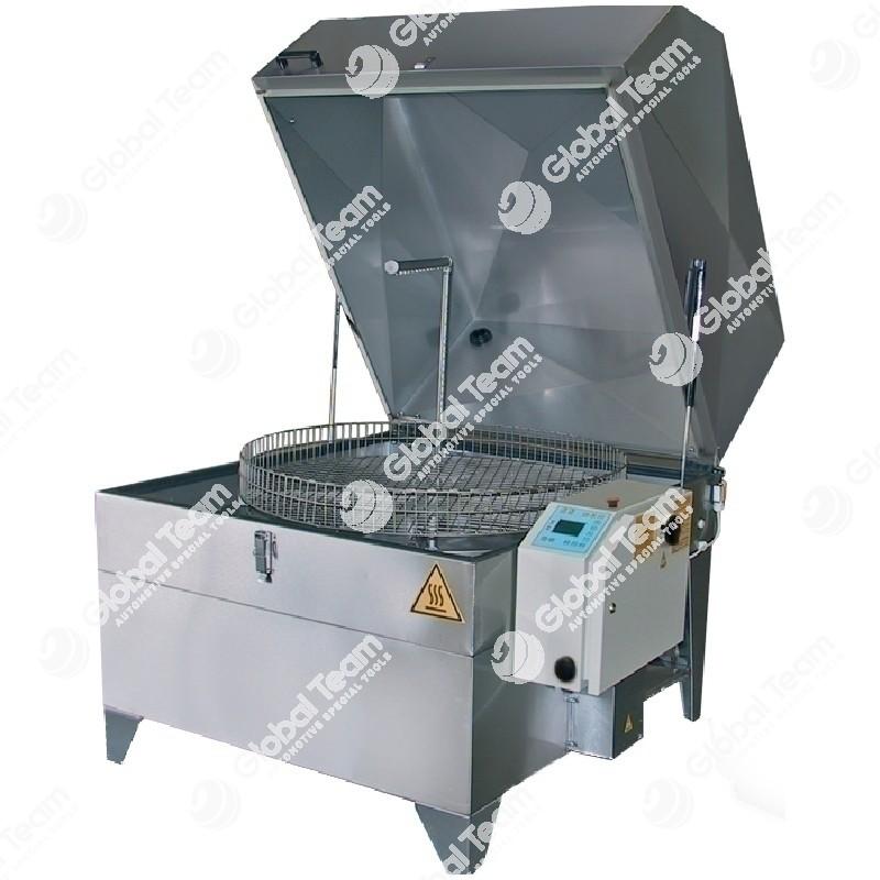 Vasca lavapezzi a caldo - alta pressione in acciaio inox con cestello girevole diam. 1200mm - 400V