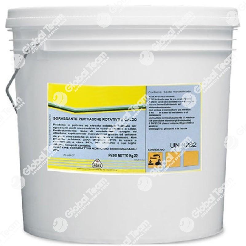 Secchio da 22kg di polvere per vasche lavapezzi a caldo - alto potere sgrassante