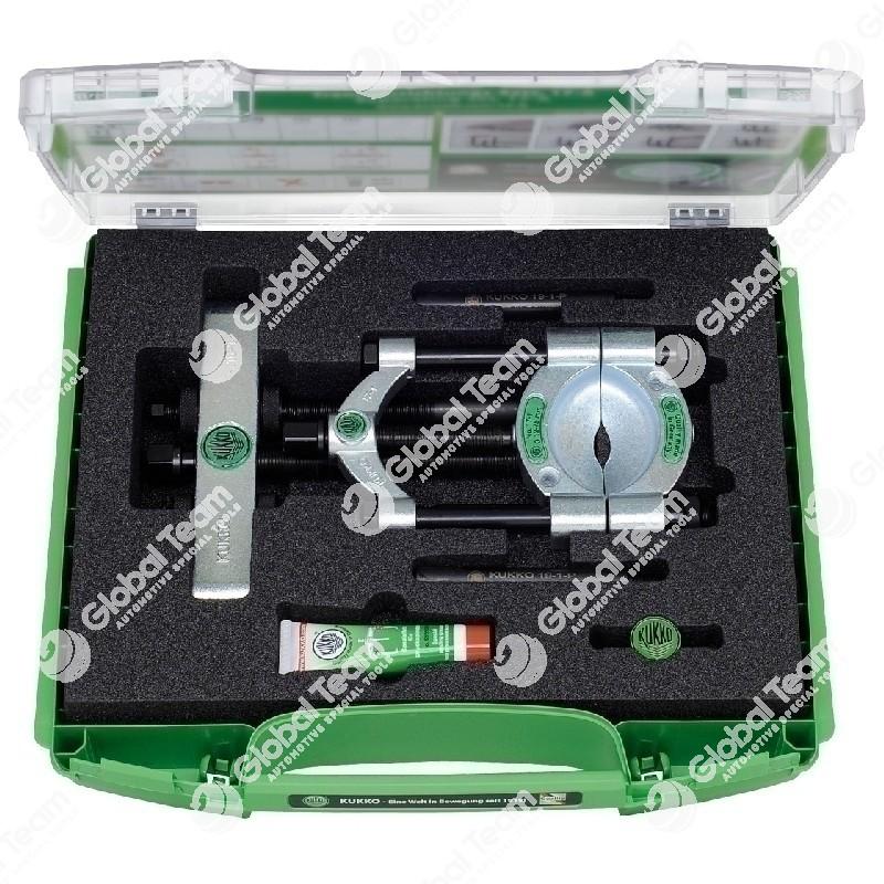 Set in valigetta con separatori con vite di pressione a serraggio rapido - apertura 22>115 mm
