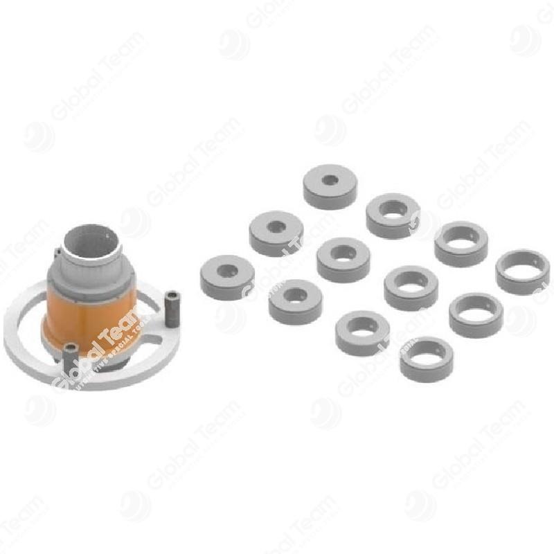 Mozzo per assali convenzionali completo di anelli di centraggio (12pz) diam. int. 35-40-45-50-55-60-65-70-75-80-85-90 - per art. FR2900