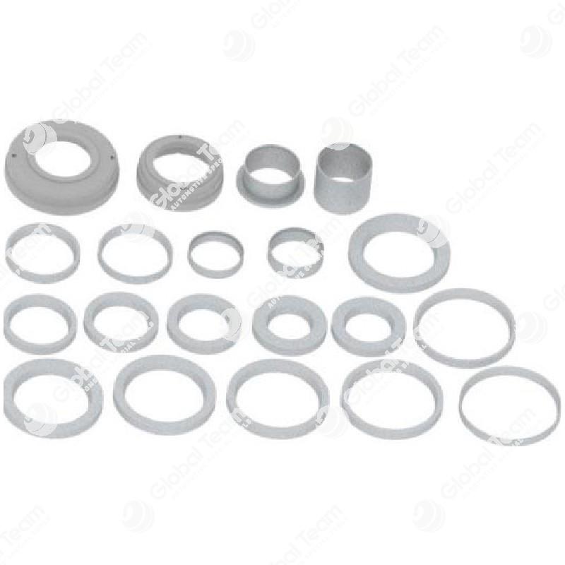 Attrezzatura per assali convenzionali con cuscinetto interno montato campana diam. int. 150mm con anelli conici diam. 151-159-167-173-183-192-200mm - distanziali H= 25-35-95 - per art. FR2900