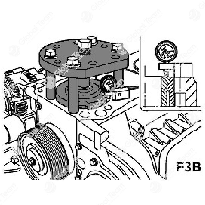 Attrezzo di compressione per rilievo sporgenza canne cilindri - da utilizzare con MT03902 + MT03903