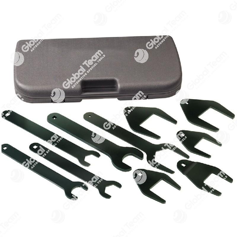 Cassetta chiavi aperte sottili speciali per smontaggio ventole motori veicoli industriali