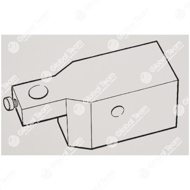 Basetta porta comparatore specifica per messa in fase IVECO Cursor 8-10-13