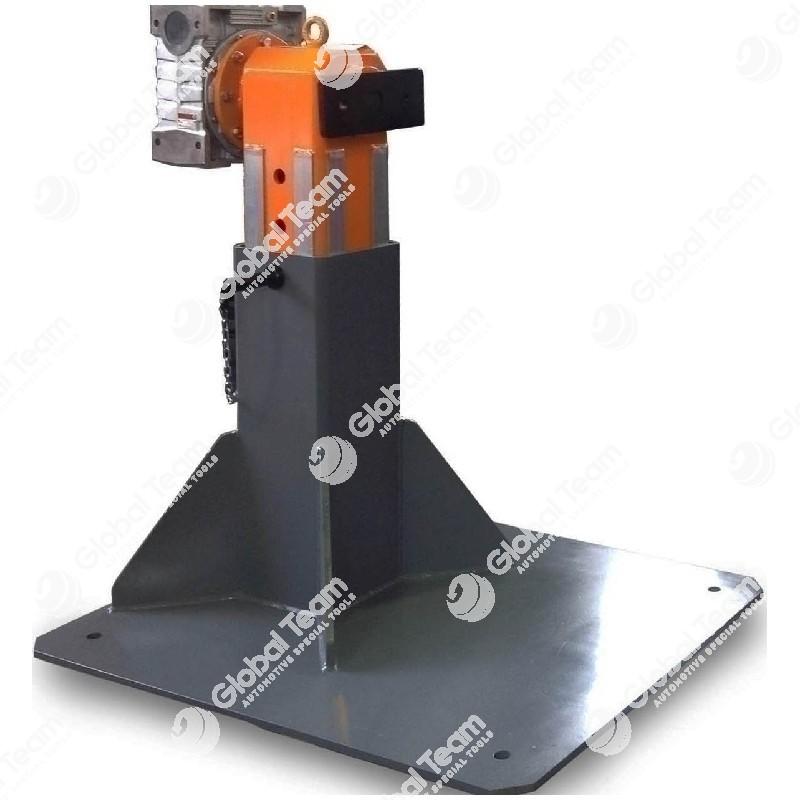 Banco monocolonna universale registrabile in altezza per rotazione motori, cambi e differenziali utilizzabile con art. MT04001 (supporto motori) - CB01100 (supporto cambi ZF) - coppia longheroni di supporto inclusi