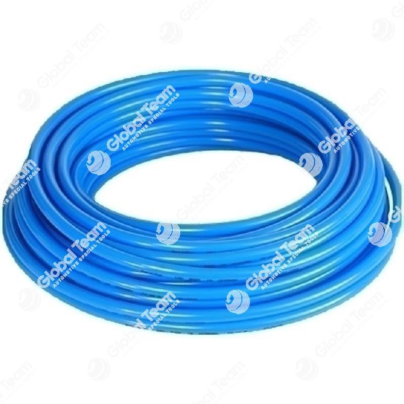 Metro di tubo aria blu in poliuretano retinato antischiacciamento 10x15 20 Bar (prezzo al mt)
