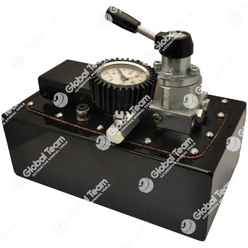 Pompa 700bar 5lt doppio effetto con deviatore e manometro