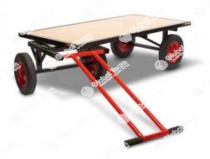 Carrellone basso robusto ideale per spostare ricambi pesanti come mozzi e cambi in officine veicoli industriali o particolari pesanti in industria
