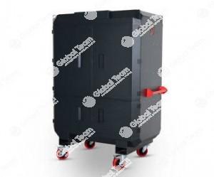 Armadio mobile blindato porta documenti , attrezzature , PC per lavoro in officine veicoli industriali ed industria . Alta qualità