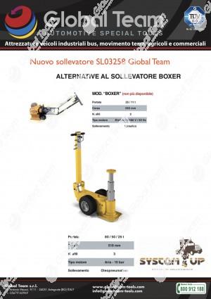 Nuovo sollevatore a 3 sfilate 80/50/25 ton . Chiuso 341 mm