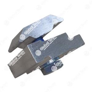 Morsetto - In base al telaio ausiliario si possono utilizzare questi morsetti per unire le lastre di fondo con il telaio ausiliario. Montaggio semplice, rapido ed economico, perchè non occorre trapanare le lastre di fondo e neanche il telaio. I morsetti s