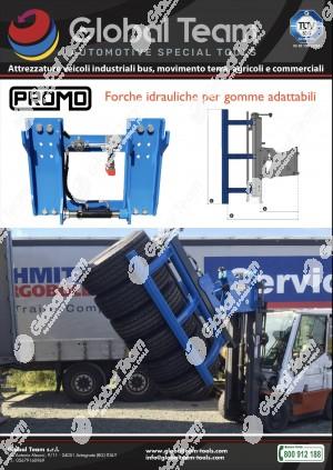 Promo lancio prodotto Pinza idraulica adattabile a carrello elevatore per spostamento pneumatici trucks