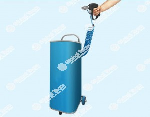 Nebulizzatore sanificatore a pistola portatile a carrello su ruote ideale per igenizzante interni abitacoli veicoli , zone lavoro , postazioni lavoro . Universale con prodotto diluito a presidio medico