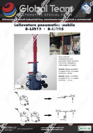 Sollevatori solo pneumatici in singolo o in coppia per sollevamento messi anche da 15 ton. a sollevatore .