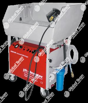 Idropulitrice tecnica per interni a bassa pressione con box recupero acque e filtri riciclo . Certificata