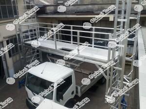 Incastellatura lavori in sicurezza su veicoli industriali e bus nostra produzione alta robustezza e dimensione lavori in più operai