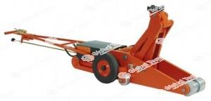 Sollevatore a leva oleo pneumatico da 16 o 20 tonnellate a testa snodata . Chiuso 270 mm , aperto 470 mm