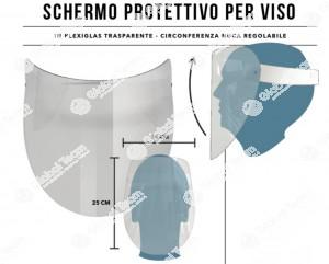 Schermo protettivo viso per igiene antivirali in zone lavoro ravvicinato