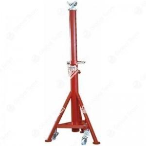 Cavalletto alto con ruote e molla interna. Portata 10 ton - h.min 1385 mm - h.max 2065 mm