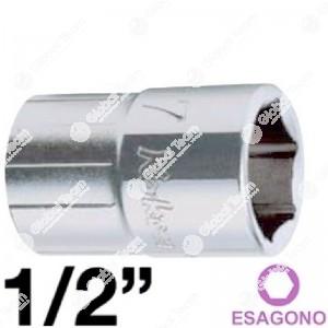 bussola - 1/2 - bianca - esagonale - corta - 16 mm