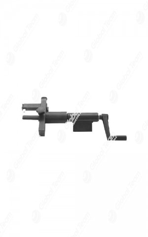 Spellatubi manuale ad utensile regolabile con spine di guida, ideale per la spellatura interna/esterna di tubi oleodinamici fino a 2″
