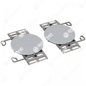 Coppia piatti girevoli universali per veicoli industriali