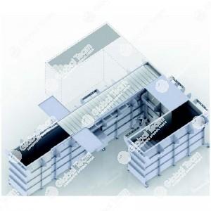 Fossa prefabbricata per revisioni 6,7 mt a normativa UNI 9721 - scala destra - autoportante 30 ton sull'asse - comprensiva di impianti luce, quadro elettrico, aria compressa ed aspirazione