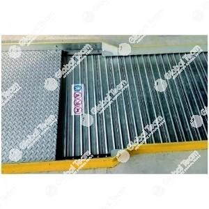 Copertura PEDONALE manuale a tapparella Alu Snake in alluminio - con impacchettamento fondo fossa - portata max 1200 Kg/m2