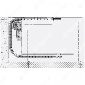 Copertura CARRABILE motorizzata a tapparella Steel Snake in acciaio - con scorrimento sotto fossa - portata max 10000 Kg/m2