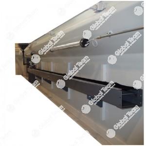 Canalina lungo fossa per olio con imbuto orientabile e pompa di svuotamento automatica - lunghezza a scelta