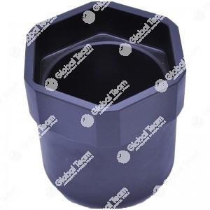 Bussola esagonale fine per ghiera mozzi BPW eco - 95 mm