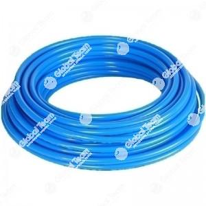 Metro di tubo aria blu in poliuretano retinato antischiacciamento 11x16 20 Bar (prezzo al mt)