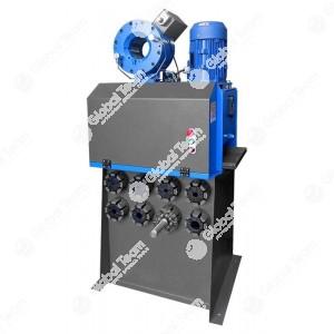 """Pressa elettrica con sitributore manuale e indicatore di quota analogico, ideale per la raccordatura di tubi flessibili oleodinamici fino a 1.1/2 """" 4Sp"""