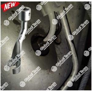 """Chiave esagonale aperta con attacco 1/2"""" per tubi e sensori catalizzatori veicoli industriali - misura 20mm"""