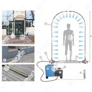 SaniMan - sanificazione a passaggio uomo in maniera automatizzata e certificata