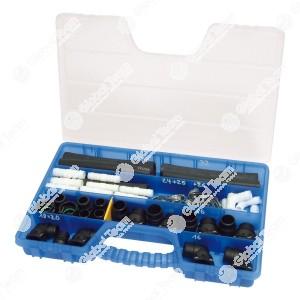 Kit riparazione manicotto del radiatore . Per una riparazione dei manicotti con perdite delle macchine e dei camion. Collegamento adatto per un uso duraturo. 32 pezzi di collegamento varie per dimensioni di 16/20/25 e 32 mm. Addizionalmente 16 fascette ad