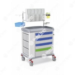 Medi trolley vuoto - Carrello dedicato per portare tutti i prodotti pulizia come pure mascherine , guanti , tute mono uso . Tutto per emendamento Cura Italia