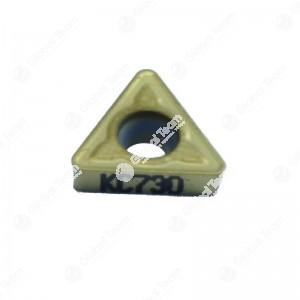 Inserto singolo triangolare piccolo superficie piana (rivestito giallo)