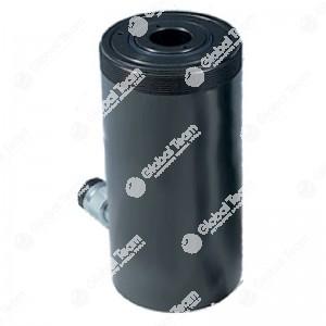 Cilindro idraulico 22 ton corsa 8mm - con ritorno a molla - foro passante 33mm